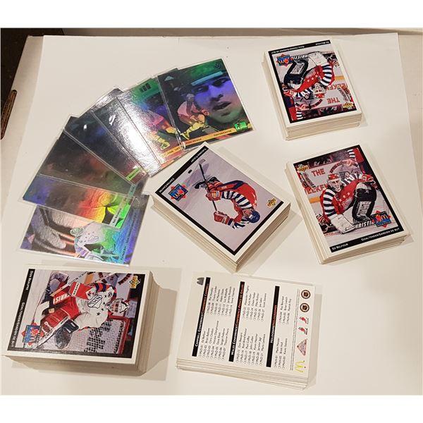 1992 Upper Deck/McDonald's NHL Hockey Cards – 2 Complete Base Sets/160+ Unsorted Base Cards/7 Hologr