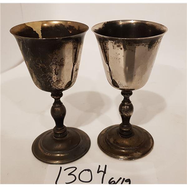 E.P. Brass (Spain) Goblets X2