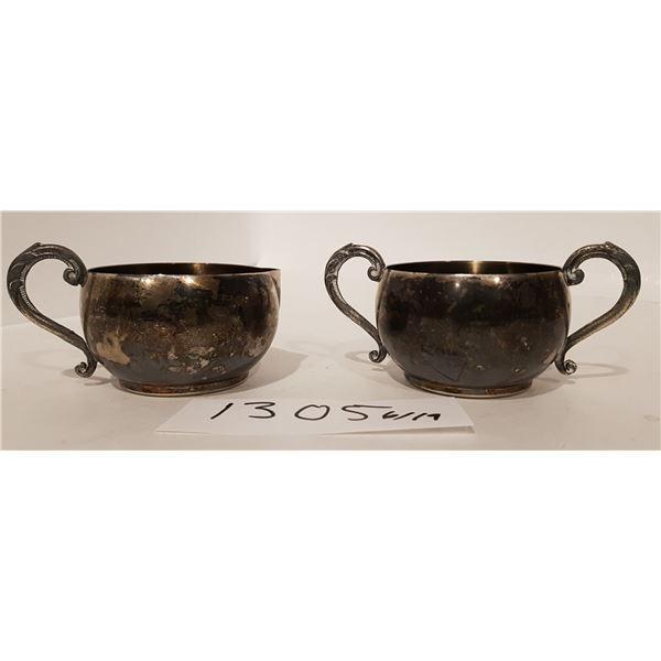 Monarch Plate Brand E.P Copper – M100 Lead MTS – Milk and Sugar Cups – 2 Piece