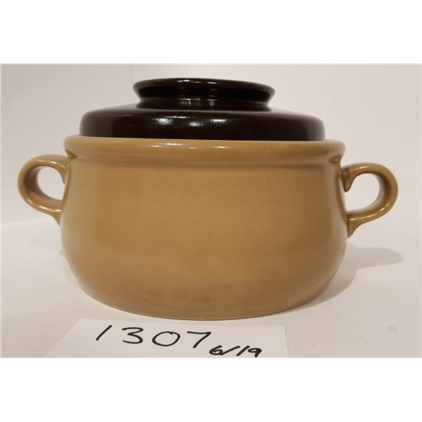 Hearthstone Hand Painted Ovenproof Stoneware Pot with Lid (Japan)