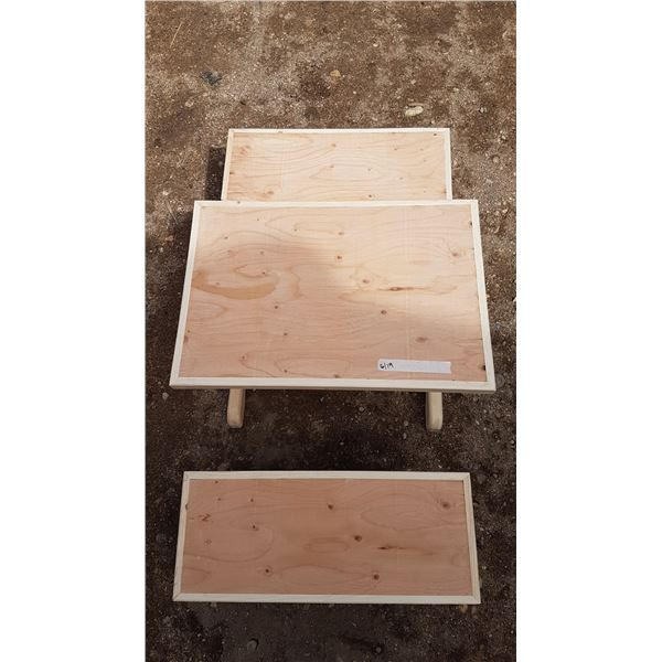 Children's Table & 2 Benches