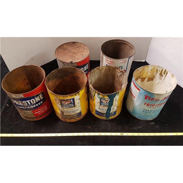 6 Antifreeze Tins