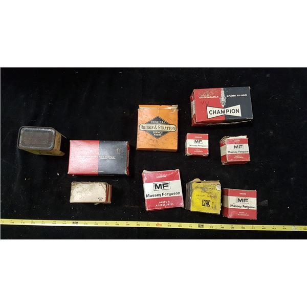 Lot Auto /Ag Parts Boxes & 1 N.O.S. Part