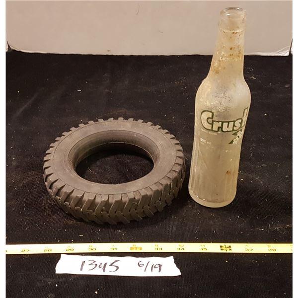 Firestone Ashtray? Tire & Crush Bottle