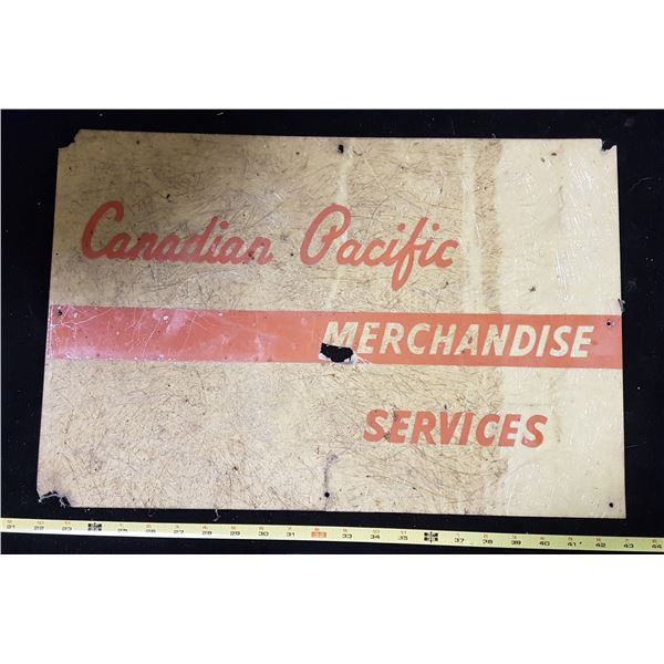 Canadian Pacific Merchandise Sign