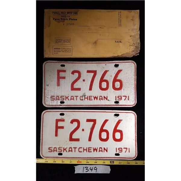 1971 Matching Sk. Farm Plates