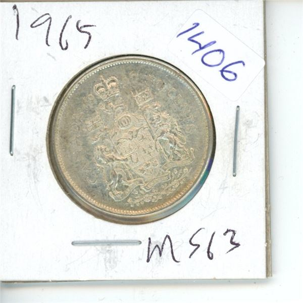 1965 Canadian 50 Cent Coin