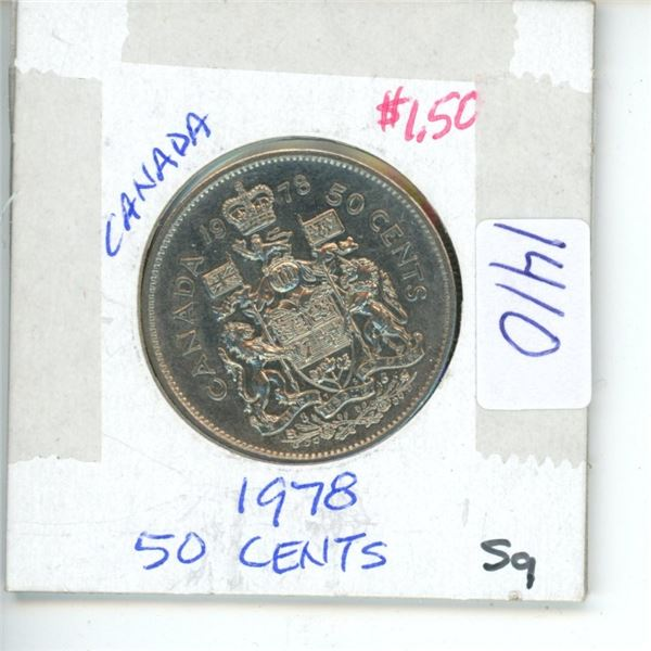1978 Canadian 50 Cent Coin