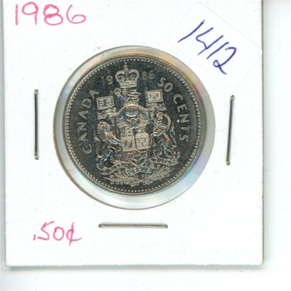1986 Canadian 50 Cent Coin