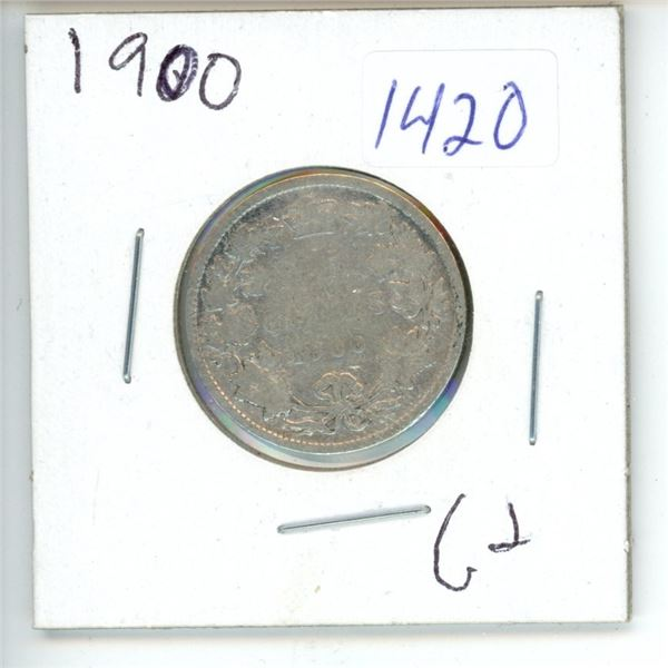 1900 Canadian 25 Cent Coin