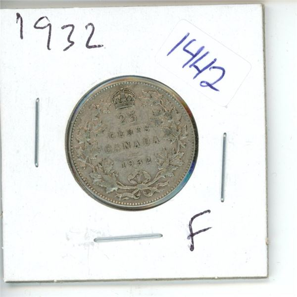 1932 Canadian 25 Cent Coin