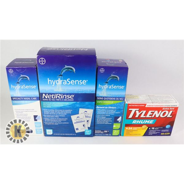 HYDRA SENSE NASAL RELIEF & TYLENOL COLD TABLETS
