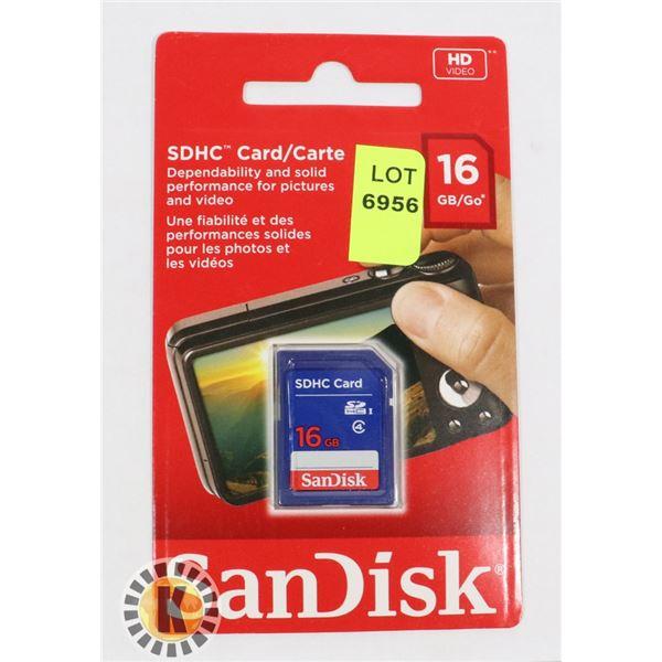 SANDISK 16GB SDHC CARD