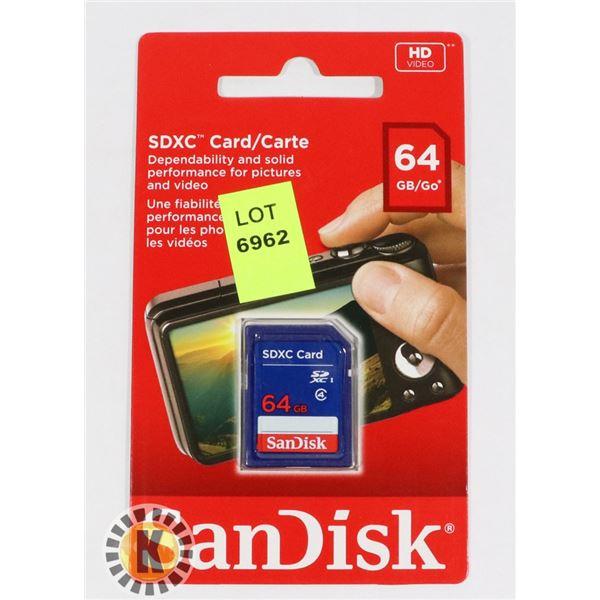 SANDISK SDXC CARD 64GB