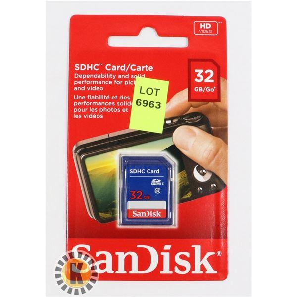 SANDISK SDHV CARD 32GB