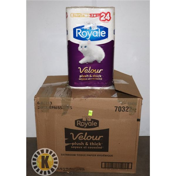 BOX OF 48 ROYALE TOILET PAPER
