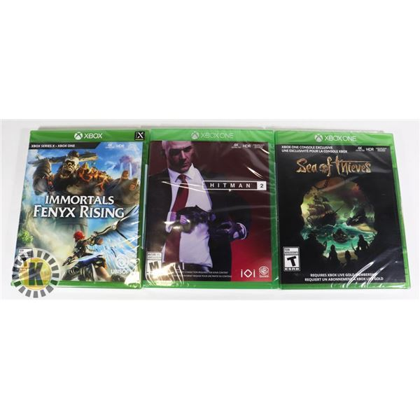 BUNDLE OF 3 XBOX GAMES