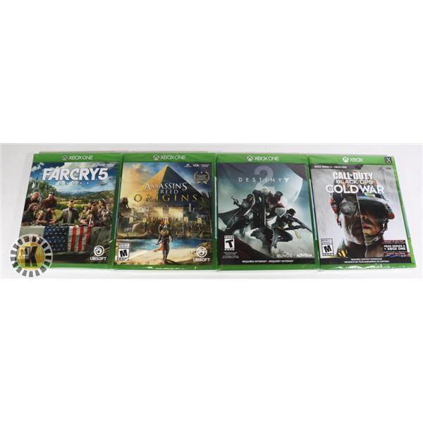 BUNDLE OF 4 XBOX GAMES