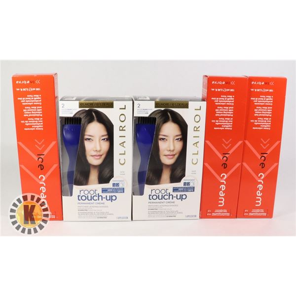 BAG OF ICE CREAM & CLAIROL HAIR PRODUCT