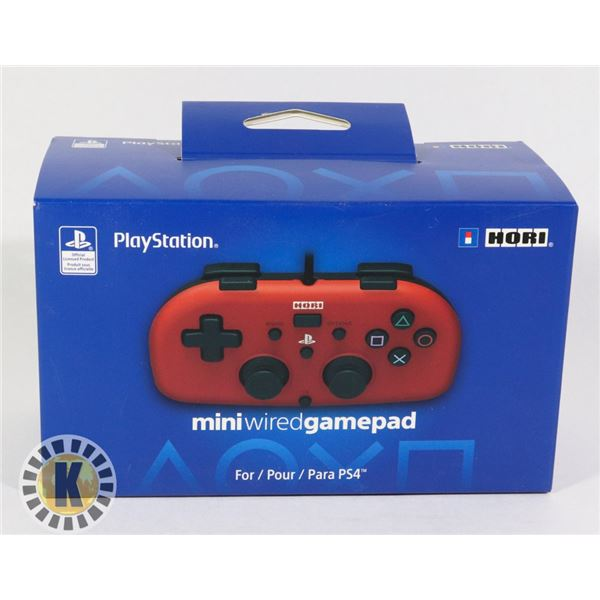 PLAYSTATION MINI WIRED CONTROLLER (RED)