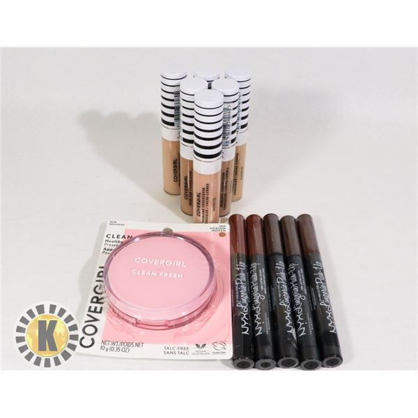 ASSORTED COSMETIC MAKE-UP ITEMS INCLUDES NYX