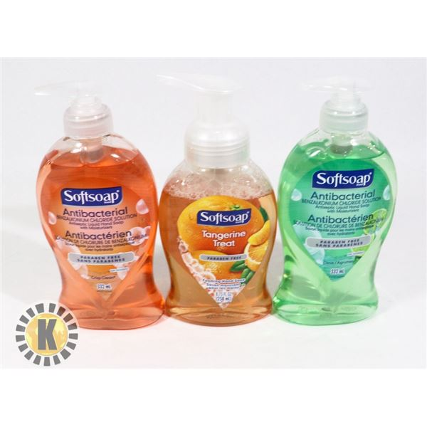 BAG OF ASSORTED SOFT SOAP  HAND WASH