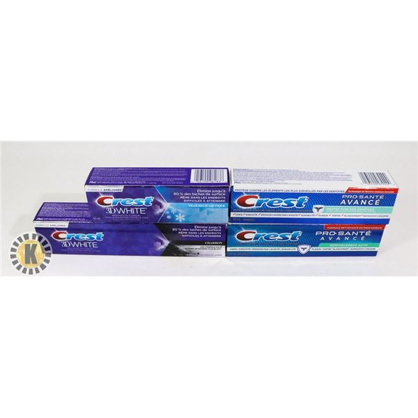 4 CREST 3D WHITE FLUORIDE TOOTH PASTE