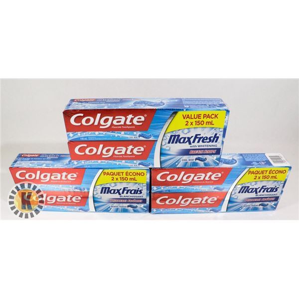 6 COLGATE FLUORIDE TOOTHPASTE COOL MINT