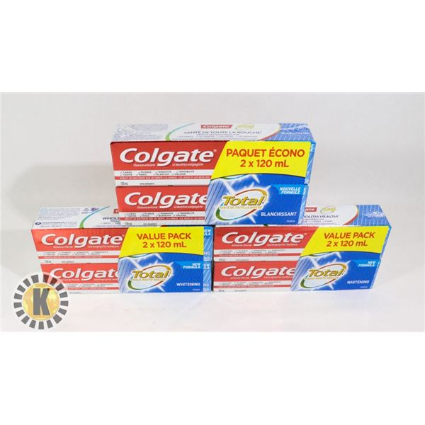 6 TOTAL COLGATE WHITENING TOOTHPASTE