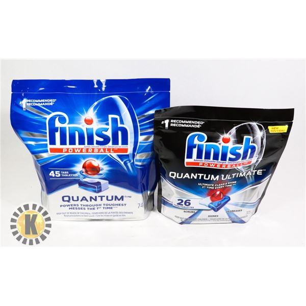 BAG OF FINISH QUANTUM ULTIMATE DISHWASHER TABS