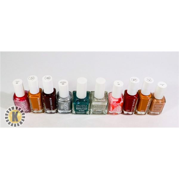 ASSORTED BAG OF NAIL POLISH INCLUDES ESSIE