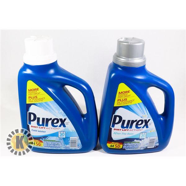 2 2.03L OF PUREX LIQUID DETERGENT