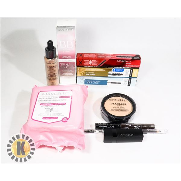 BAG OF NEW ASSORTED MARCELLE COSMETIC ITEMS