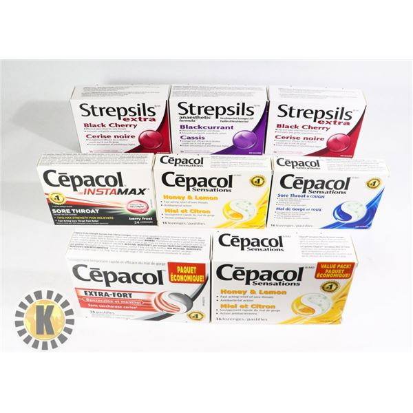 BAG OF ASSORTED CEPACOL TABLETS