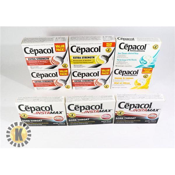 BAG OF ASSORTED CEPACOL TABLET