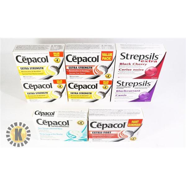 BAG OF ASSORTED CEPACOL & STREPSILS TABLET