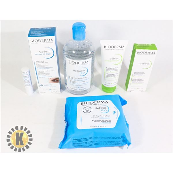 BAG OF ASSORTED BIODERMA FACE TREATMENTS