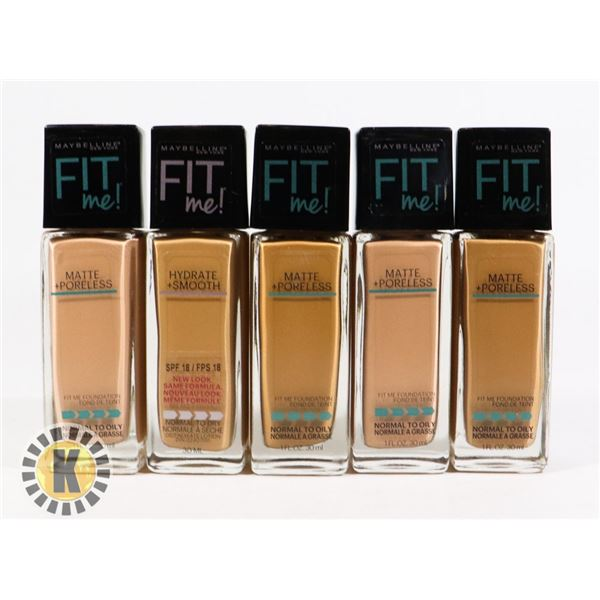 BAG OF NEW MAYBELLINE FIT ME FOUNDATION