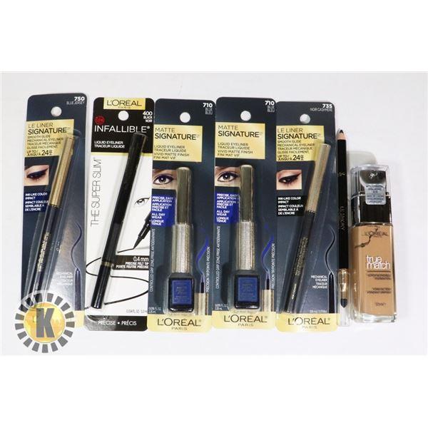 BAG OF MAKE-UP FOUNDATION AND INK PEN