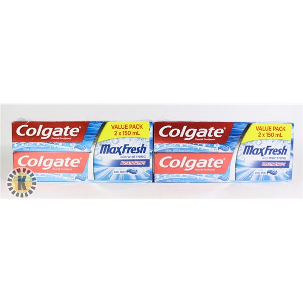 BAG OF COLGATE FLUORIDE COOLMINT TOOTHPASTE