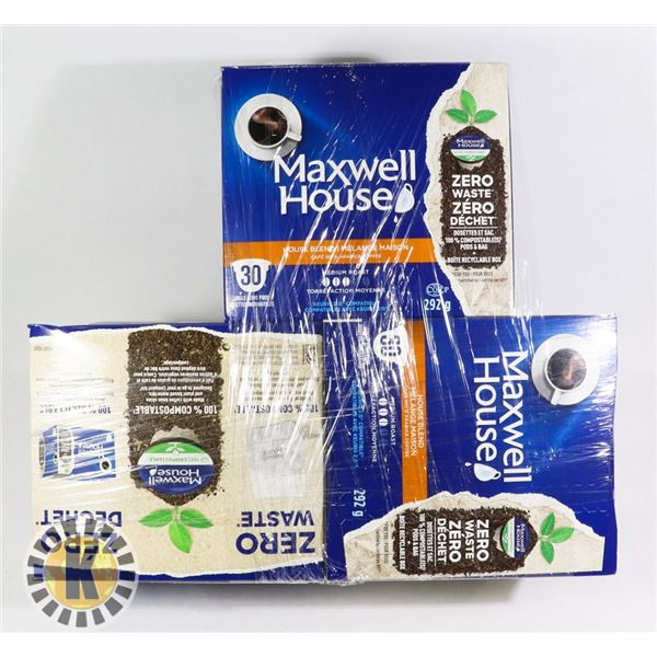 3 BUNDLES  ASSORTED OF MAXWELL HOUSE COFFEE
