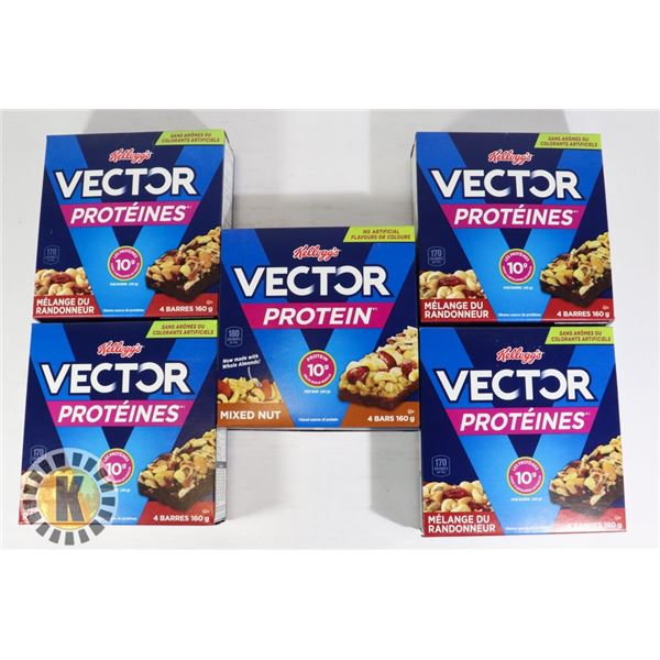 BAG OF VECTOR PROTEIN BAR BOXES
