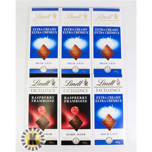BAG OF LINDT EXCELLENCE ASSORTED FLAVOUR CHOCOLATE
