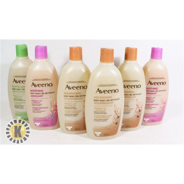 BAG OF AVEENO BODY WASH PRODUCTS