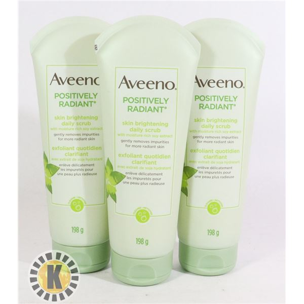 BAG OF AVEENO SKIN CARE PRODUCTS