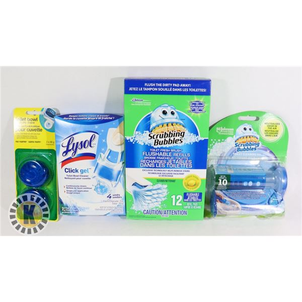 BAG OF ASSORTED  TOILET BOWL CLEANERS