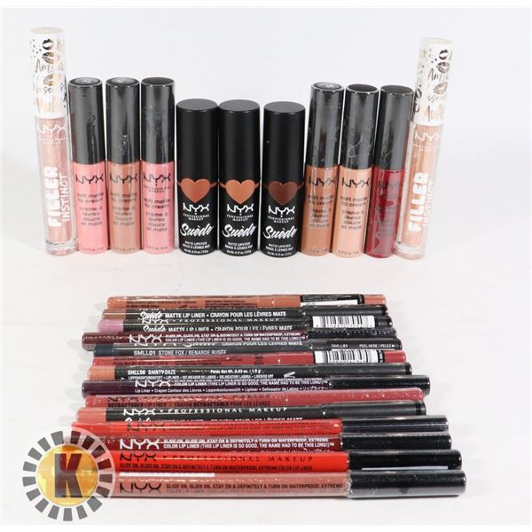 BAG OF ASSORTED NEW NYX MAKE-UP  ITEMS