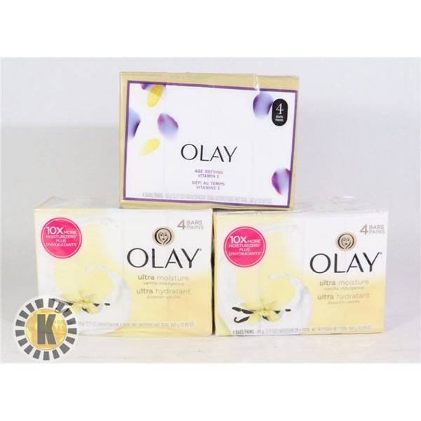 BAG OF ASSORTED OLAY BODY WASH BAR SOAPS