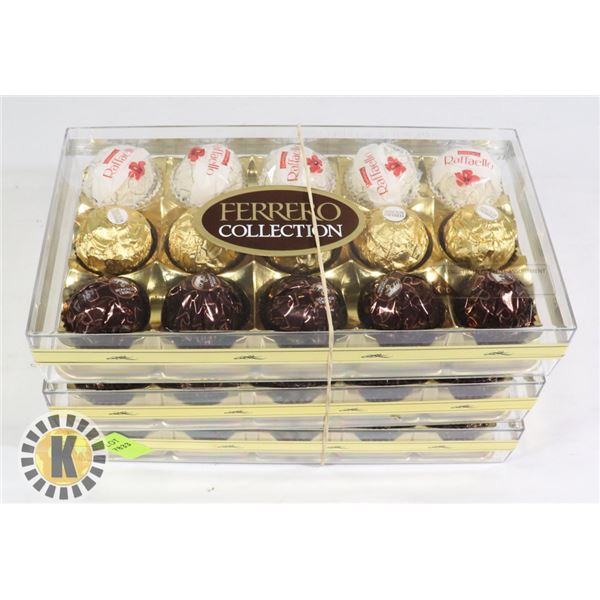 BUNDLE OF 3 FERRERO CHOCOLATE PACKS