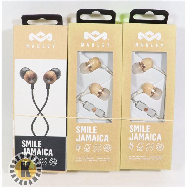 3 MARLEY EAR PHONES